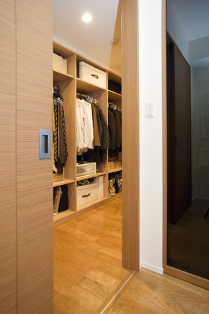 closet door: Wide closet