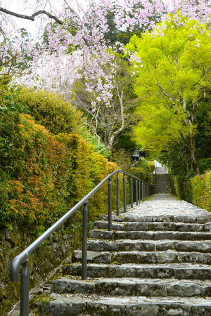階段の大原西入口 写真素材