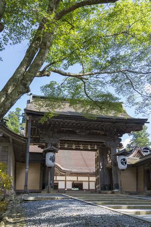main gate: Main gate of Kongobuji Temple Editorial