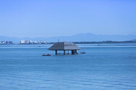 intake: Intake tower of Lake Biwa Karasaki off the coast