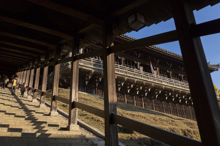 cultural artifacts: Todaiji February Hall and stairs Editorial
