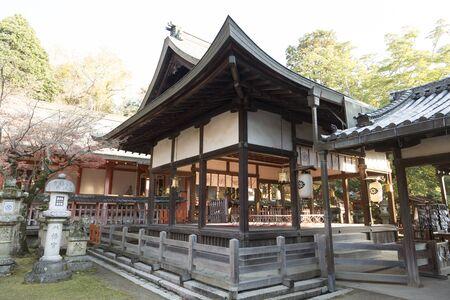toge: Dance hall and the hall of worship of Tamukeyama Hachiman Shrine