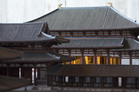 reproduce: Model of Todai-ji Temple Hall of the Great Buddha