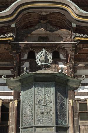 octagonal: Octagonal lantern of Todai-ji Temple Hall of the Great Buddha Editorial