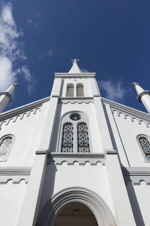나카 마치 교회 예배당 스톡 콘텐츠