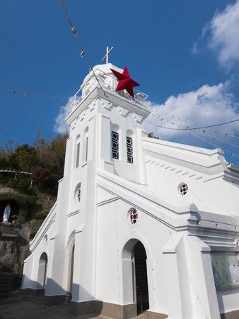카미노 시마 교회 출현 스톡 콘텐츠