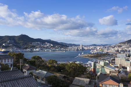 nagasaki: Nagasaki Port outlook Stock Photo