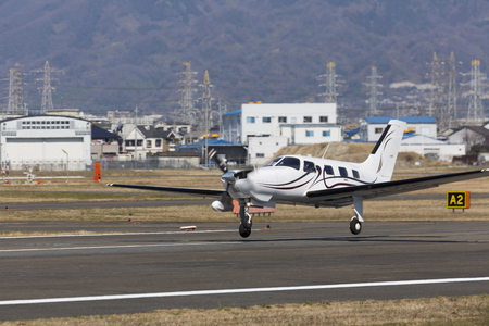 take off: Small aircraft to take off