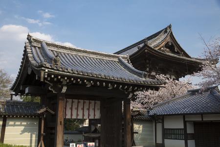 deity: Niwajihon Bow front gate and Nio guardian deity gate Editorial
