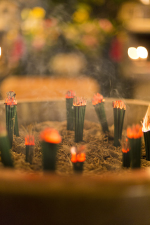 Incense: Red burning incense