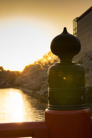 hydrophobic: Baluster finial and Lake Biwa hydrophobic
