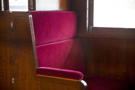 sleeper: Seat of retro sleeper Stock Photo