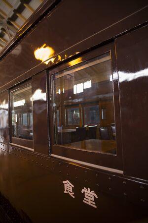 Window of retro dining car