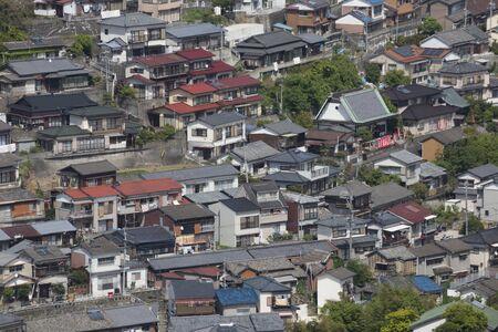 nagasaki: Line of houses of Nagasaki