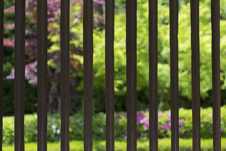 lattice window: Horyuji Saiin cathedral corridor of window Stock Photo