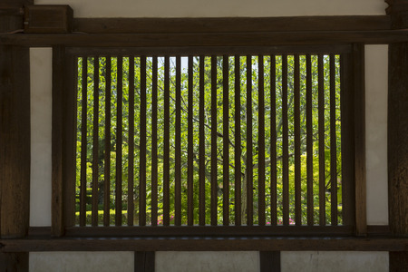 lattice window: Horyuji Saiin cathedral corridor lattice window of
