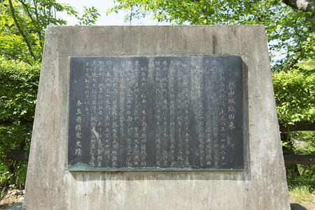 stele: Stele from Koriyama Castle Ruins