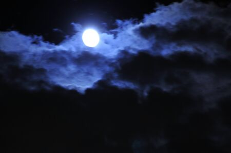 waxing gibbous: Moon behind the clouds