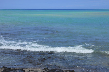 horizontal line: Horizontal line and the beach Stock Photo