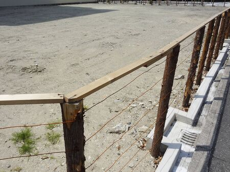 vacant: Wooden fence of a vacant lot Stock Photo