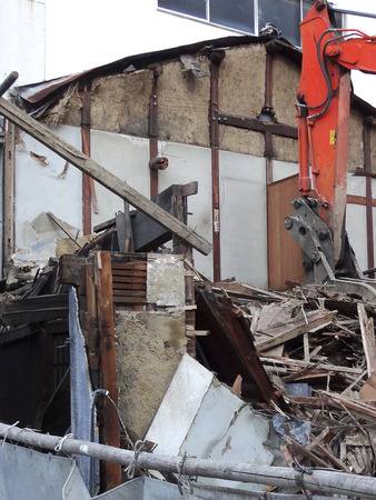 wastes: Demolition of houses Stock Photo
