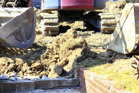 civil engineering: Civil engineering construction shovel