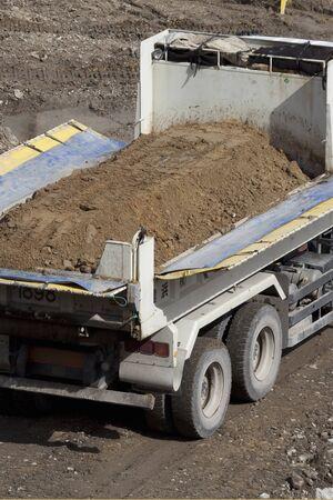ダンプ トラック 写真素材