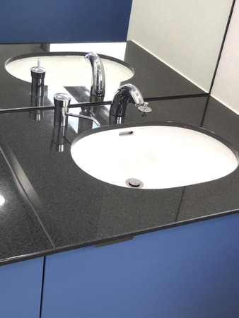 washstand: Wash basin Stock Photo