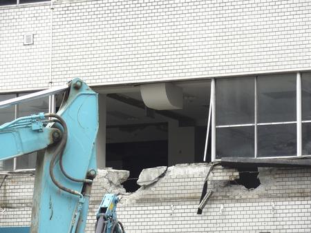 disassemble: Building demolition Stock Photo