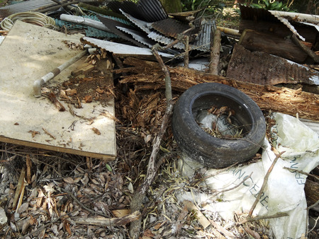 illegal: Illegal dumping of trash