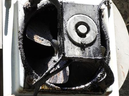 exhaust fan: Grease exhaust fan Stock Photo