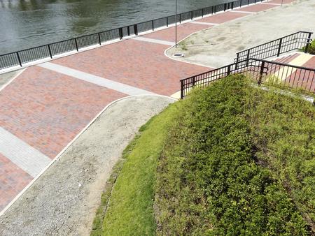 promenade: Promenade of Okawa of embankment Stock Photo