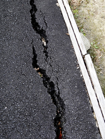 crazing: Cracked asphalt