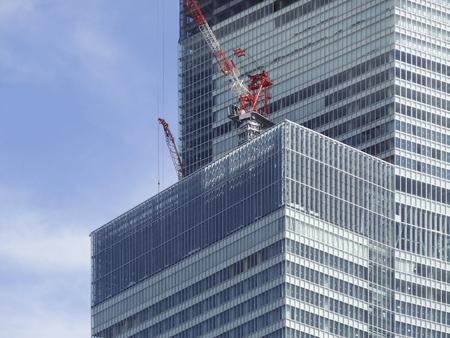 ビル建設工事 写真素材