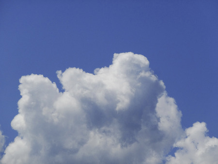cumulonimbus: Cumulonimbus cloud and blue sky