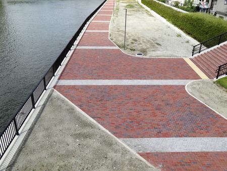 embankment: Promenade of Okawa of embankment Stock Photo