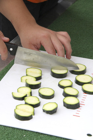 off cuts: Zucchini Stock Photo