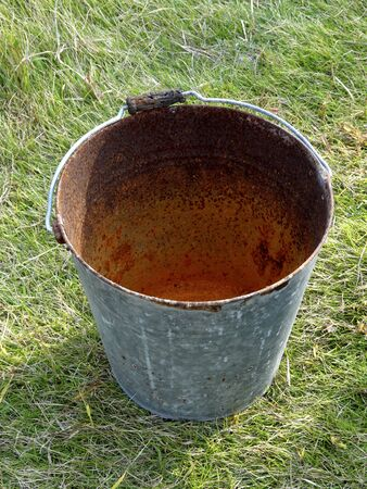 tinplate: Bucket of rusty tin Stock Photo