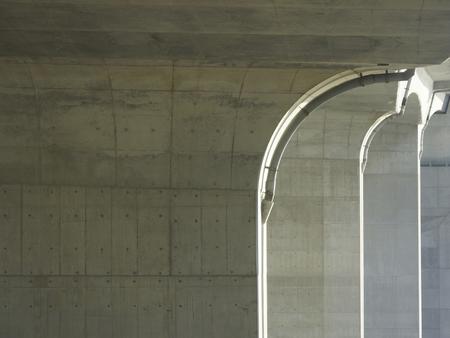 fulcrum: Highway bridge pier Stock Photo