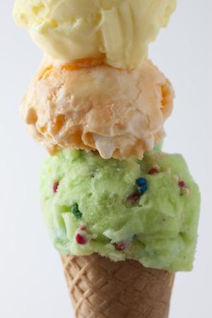 high calorie foods: Ice cream Stock Photo