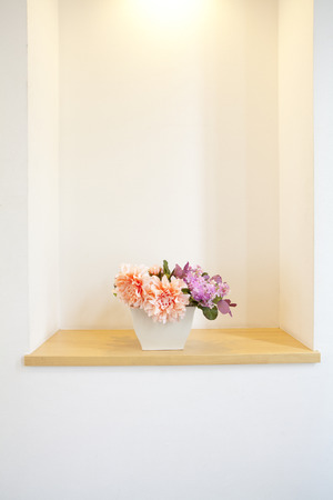 downlight: Flowers adorned the entrance