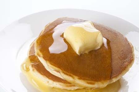 indulgent: Pancake Stock Photo