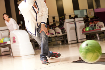 Men bowling