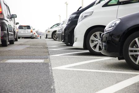 Crowded parkeerplaats