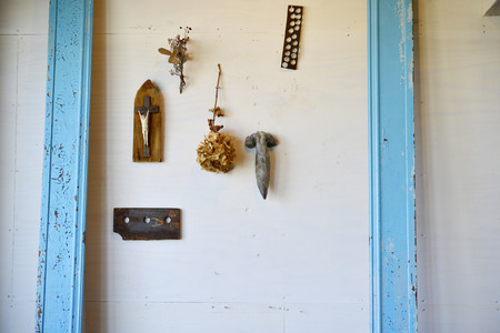 objects: Wall of objects Stock Photo