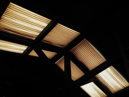 deteriorate: Vinyl tin of degraded warehouse roof
