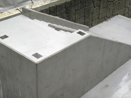コンクリート階段工事 写真素材
