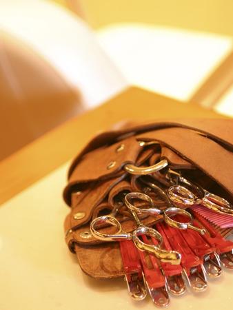 coiffeur: Hairdresser scissors Banque d'images