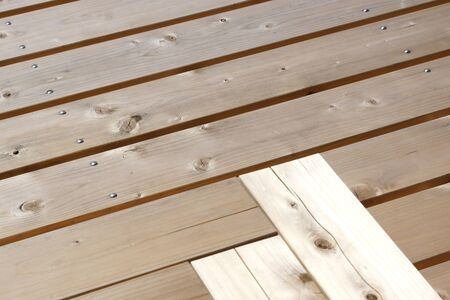 deck: Wood deck Stock Photo