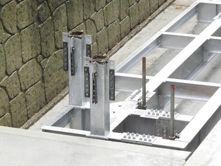 seawall: Seawall construction steel